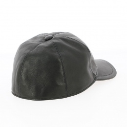 Casquette Nappa cuir noire - traclet