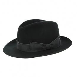 Black cashmere felt hat