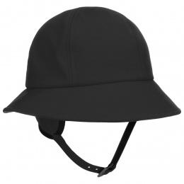 Chapeau Elia en tissu noir impermeable