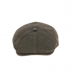 Casquette Oxford cuir marron