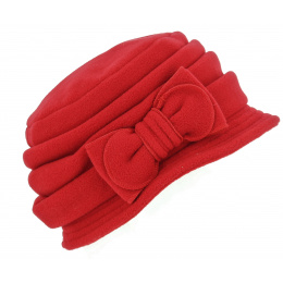 Chapeau Cloche Polaire Anushka Rouge - Traclet