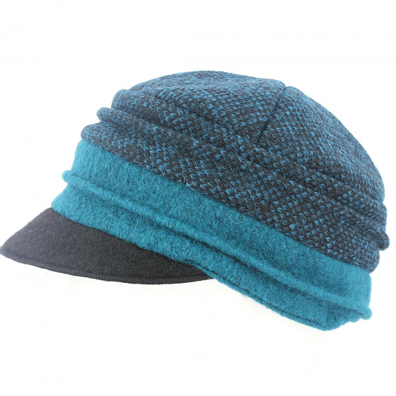 Cap Gavroche Alessia Blue Wool - TRACLET