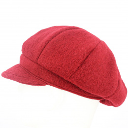 Casquette Gavroche Carla Laine Rouge - Traclet