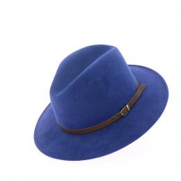 Chapeau traveller en laine bleu