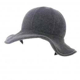 chapeau polaire gris