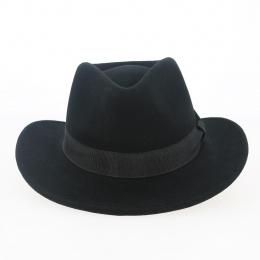 black wool felt traveller hat