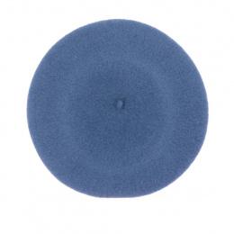 Basque Beret Kopka - grey blue