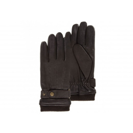 Men's leather and fleece gloves - Isotoner