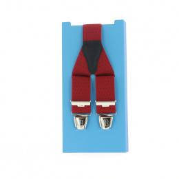 Bretelle rouge avec petits point noir