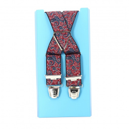 Bretelle fantaisie style bandana - Rouge