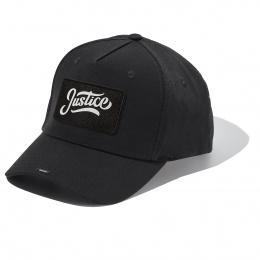 Black Full Cotton Cap with JUSTICE badge