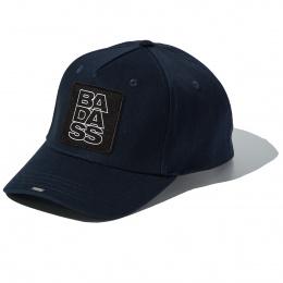 Blue Full Cotton cap with BADASS badge