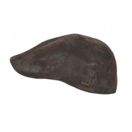 copy of Sutton Duckbill Cap Red Leather - Hatland