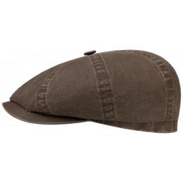 Casquette hatteras coton biologique Marron Stetson
