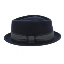 PorkPie Mandai Wool Felt Hat Blue - Traclet