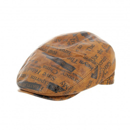 copy of Flat Leather Cap Ralph Beige