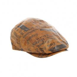 copy of Flat Leather Cap Ralph Beige