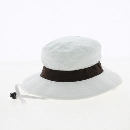 binic anti UV hat with brown ribbon- Soway