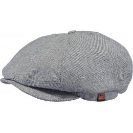 Jamaica Black Cotton Flat Cap - Barts