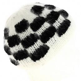 Angora checkerboard hat