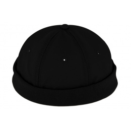 Bonnet Docker Crémone Coton Noir - Traclet