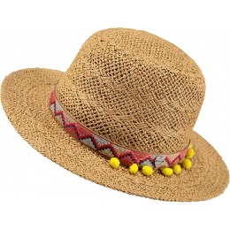 copy of Butterfly Butterfly Straw Hat for Children - Natural Paper - Barts