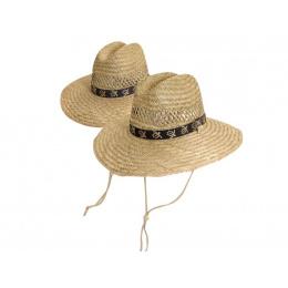 Chapeau de randonnée en paille