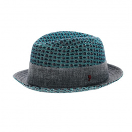 Green and grey Trilby hat
