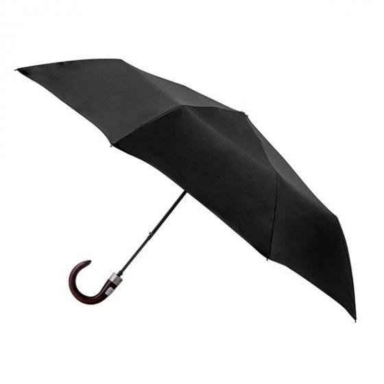 Mini-Parapluie Pliant Noir poignée courbée - Piganiol