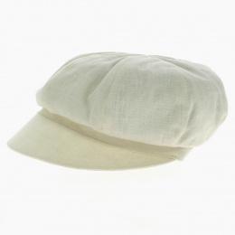 Gavroche Cap - Off white linen - MTM