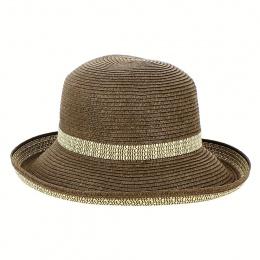 Very Chic Women's Breton Hat Brown & Ivory- Emthunzini Hats