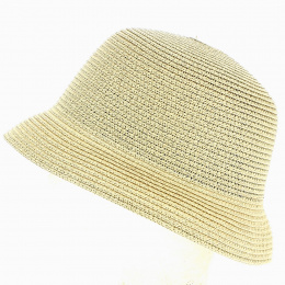 Kenna Straw Paper Cloche Hat - Traclet