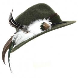 Chapeau Traveller Prestigieux Laine Olive - Traclet