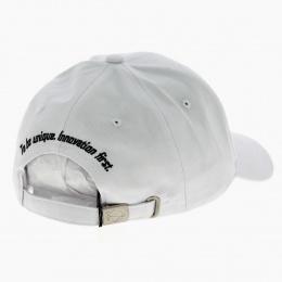 White Cotton Baseball Cap - Jack Magnan