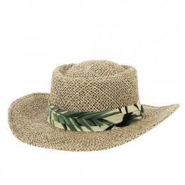 Chapeau Gambler Mulligan Leaf Paille Naturelle - Traclet