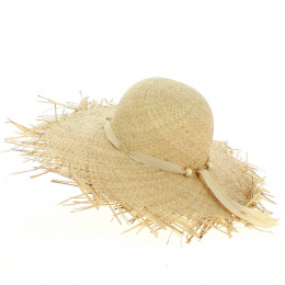 Natural Straw Capeline Daisie - Traclet