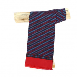Louis Silk Scarf Red & Blue - Traclet