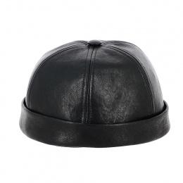 Bonnet Docker Nappa Noir Cuir - Traclet