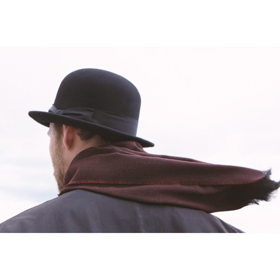 Wool felt bowler hat for men