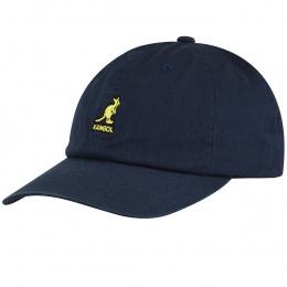 Casquette Washed Baseball Coton marine- Kangol