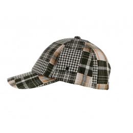 Maggio Stripes Khaki & Orange Baseball Cap - Aussie Apparel