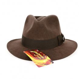 Chapeau Indiana Jones Feutre Poil Chocolat