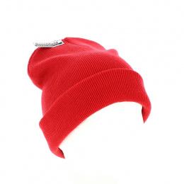 Bonnet Long Acrylique Rouge - Beechfield