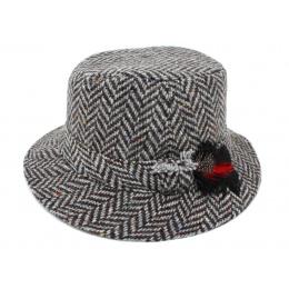 Bob Wool Chevron Grey Black- Hanna hats