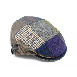 Casquette Plate Monaghan Patchwork Laine Vierge - Hanna Hats