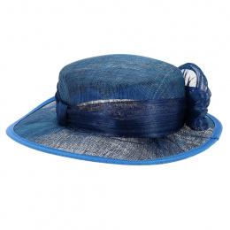 Chapeau de Cérémonie Sidonie Bleu Dur - Traclet