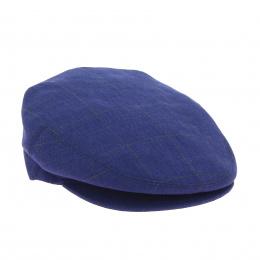 Casquette plate à carreaux bleu marine taille 56