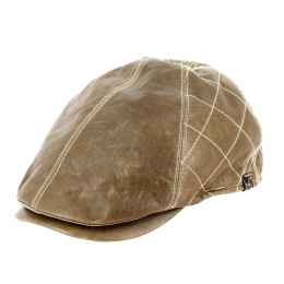 copy of Hatteras Eel Brown Leather Cap - Stetson