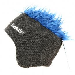 Bonnet Cache-Oreilles Laine Gris & Bleu Gisbert - Eisbär