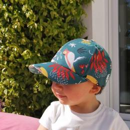 Casquette Baseball Enfant Paresseux Coton Vert - le Chapoté Paris